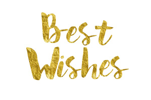 Best Wishes Gold Foil Text