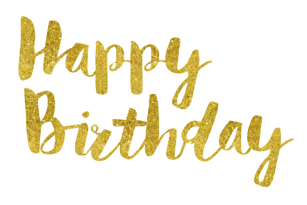 Happy Birthday Gold Foil Text