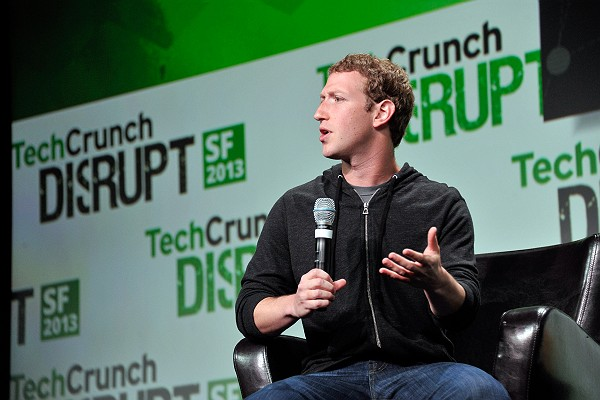 Mark Zuckerberg at TechCrunch