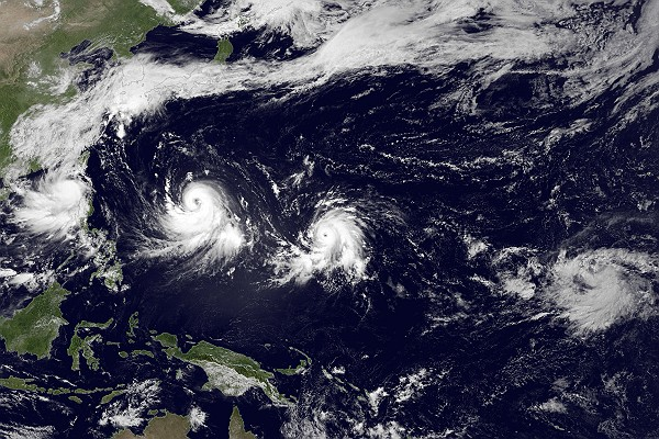 Three Tropical Systems