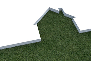 3D Green Home Cutout