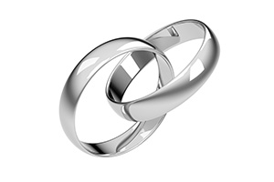 3D Wedding Rings Platinum