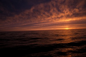 A Bering Sea Sunset