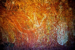 Aboriginal Painting at Uluru