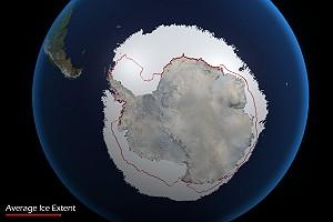 Antarctica Average Ice Extent