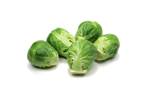 Brussels Sprouts on White