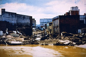 Flood Damage Caused by Hurricane Mitch