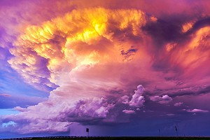 High Plains Sunset Thunderstorm