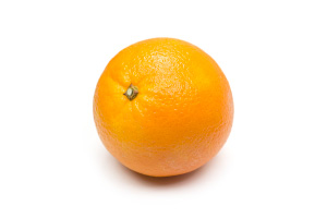 Navel Orange on White