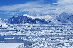 Pack Ice Along Antarctic Shoreline