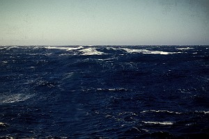 Rough Seas Near the Aleutian Islands