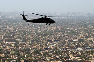UH 60 Black Hawk Over Baghdad