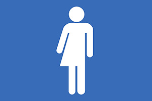 Vector Unisex Bathroom Symbol