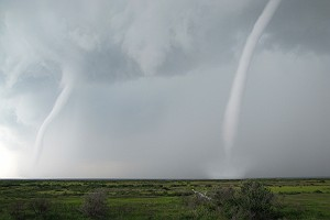 Waterspouts off the Port of Grand Isle